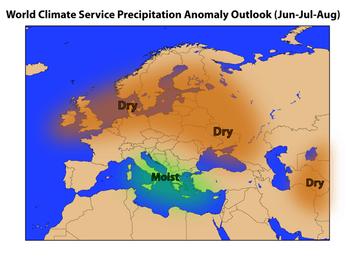 World Climate Service European Forecast for Precipitation in 2018
