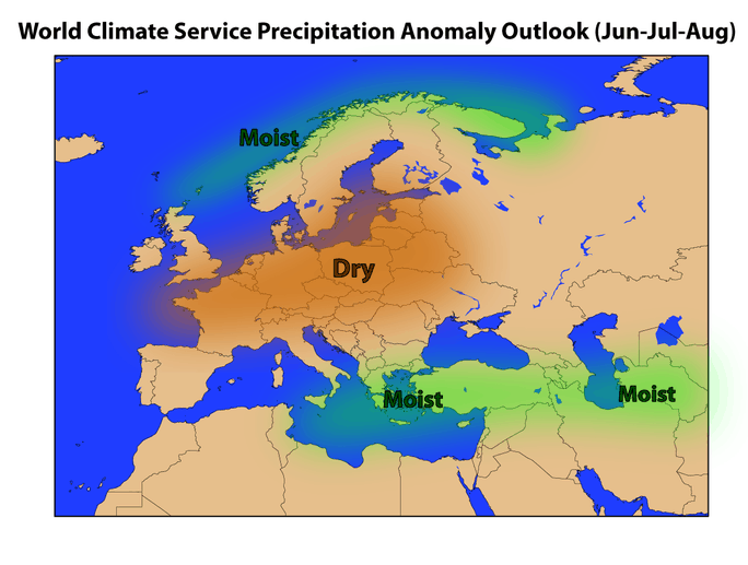 World Climate Service Seasonal Forecast: Summer 2019 Forecast for Precipitation