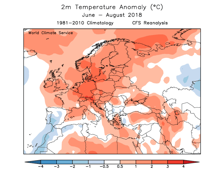 World Climate Service 2018 European Summer temperature verification