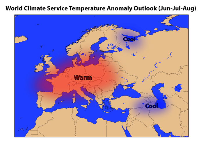 World Climate Service European Summer Forecast for 2019