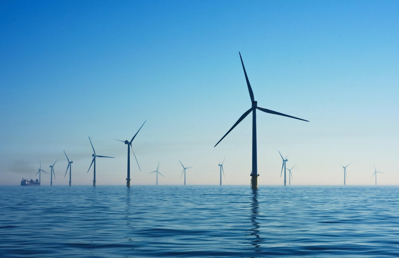 Photo of a UK offshore wind farm