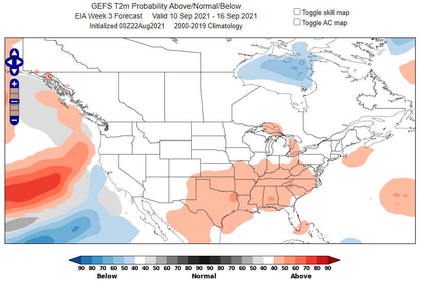 Example Temperature Probability Map